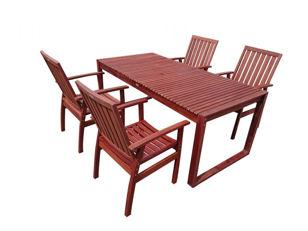 Dining I. zahradní dřevěný nábytek set 1+4