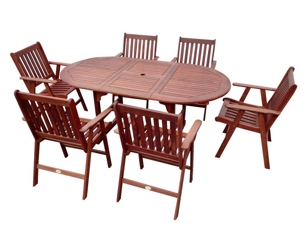 Renda zahradní dřevěný nábytek 1+6