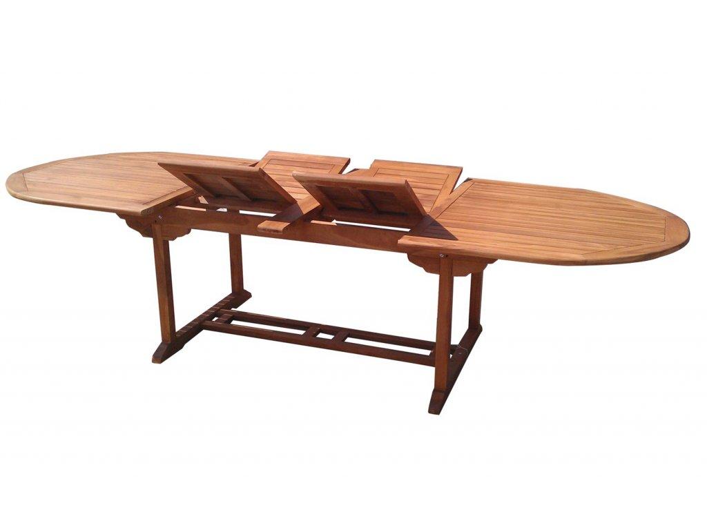 Extra oválný teakový rozkládací stůl