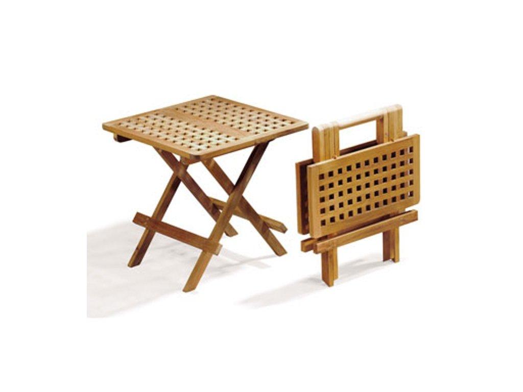 Piknik hranatý teakový skládací stolek