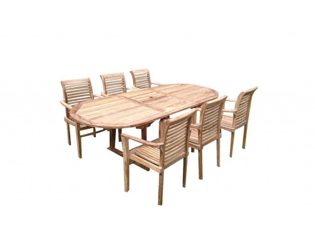 Zahradní nábytek Faisal I. teak set 1+6