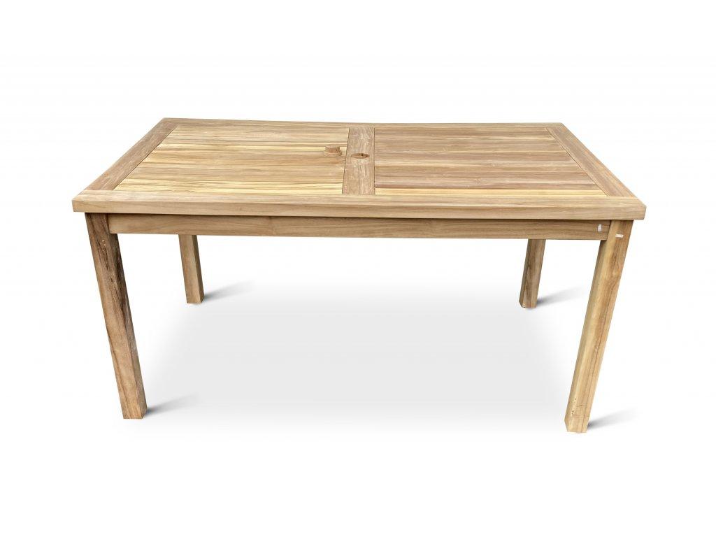 Garden I. hranatý teakový stůl