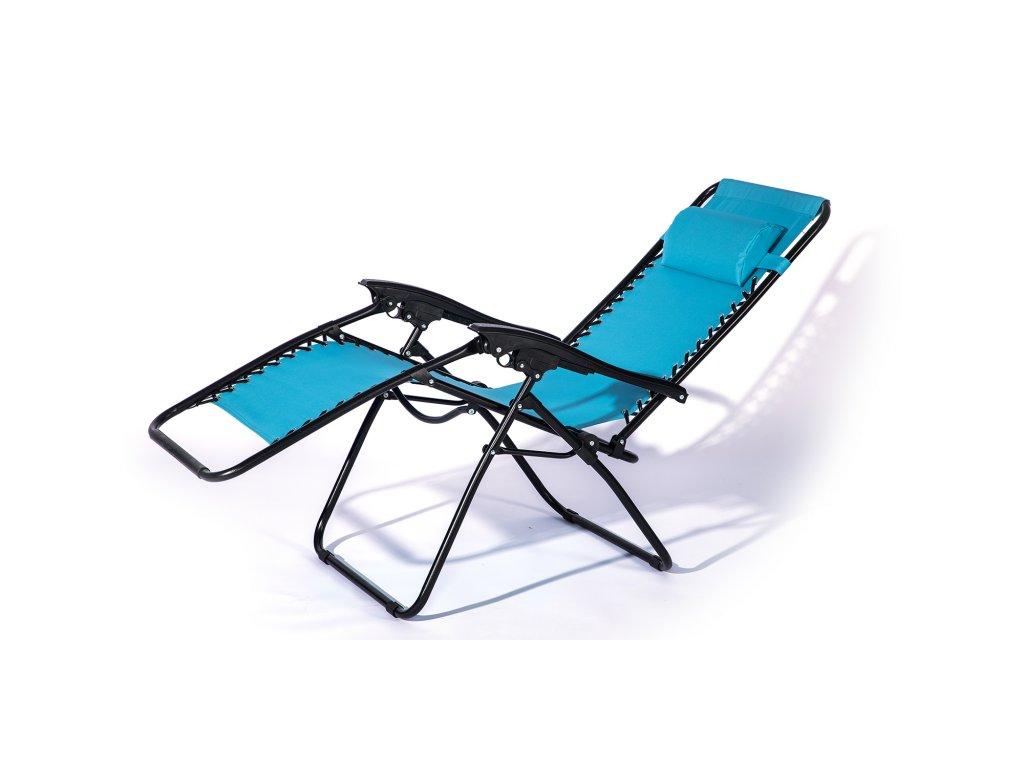 Křeslo relaxační Dallas modrá