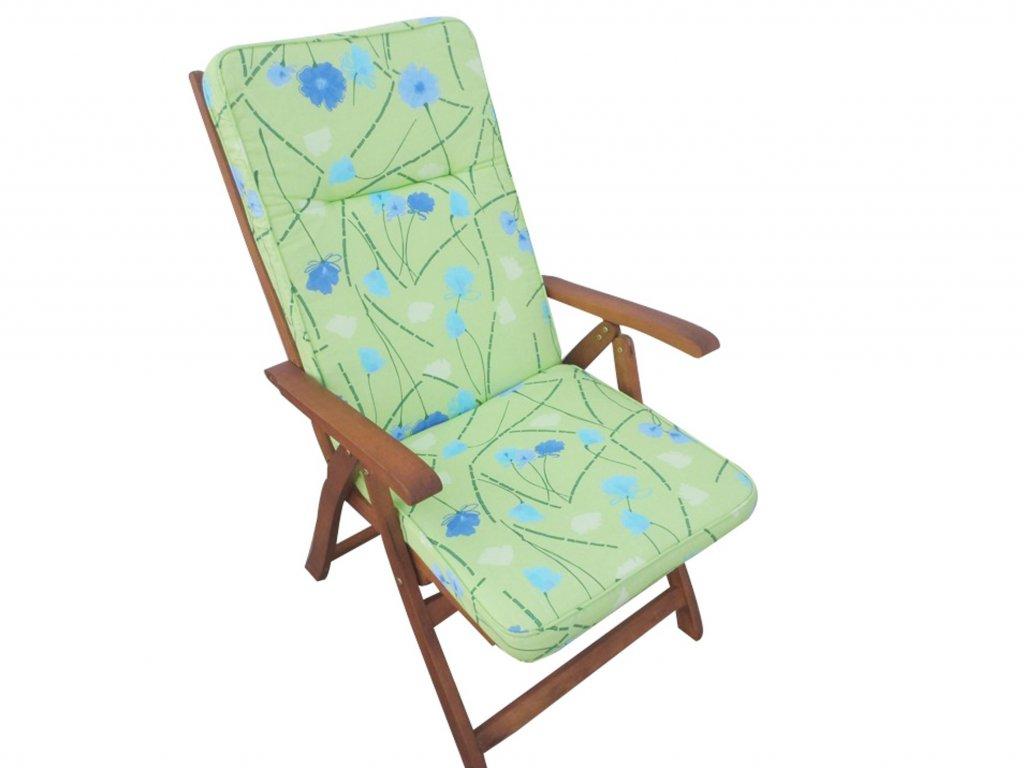 Polstr na polohovací židli 8 cm zelinkavý