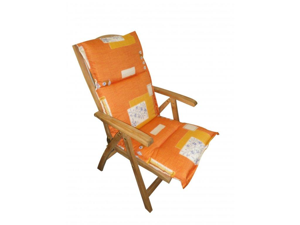 Polstr Oranžový na polohovací židli