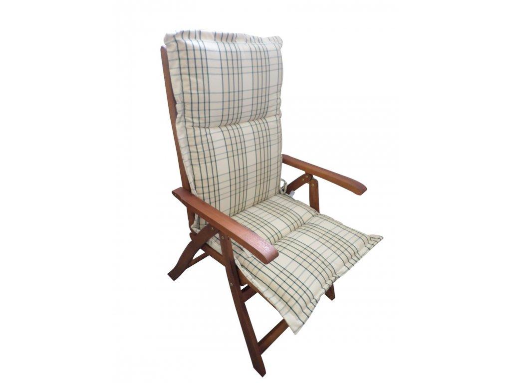 Polstr smetanová kostka na polohovací židli