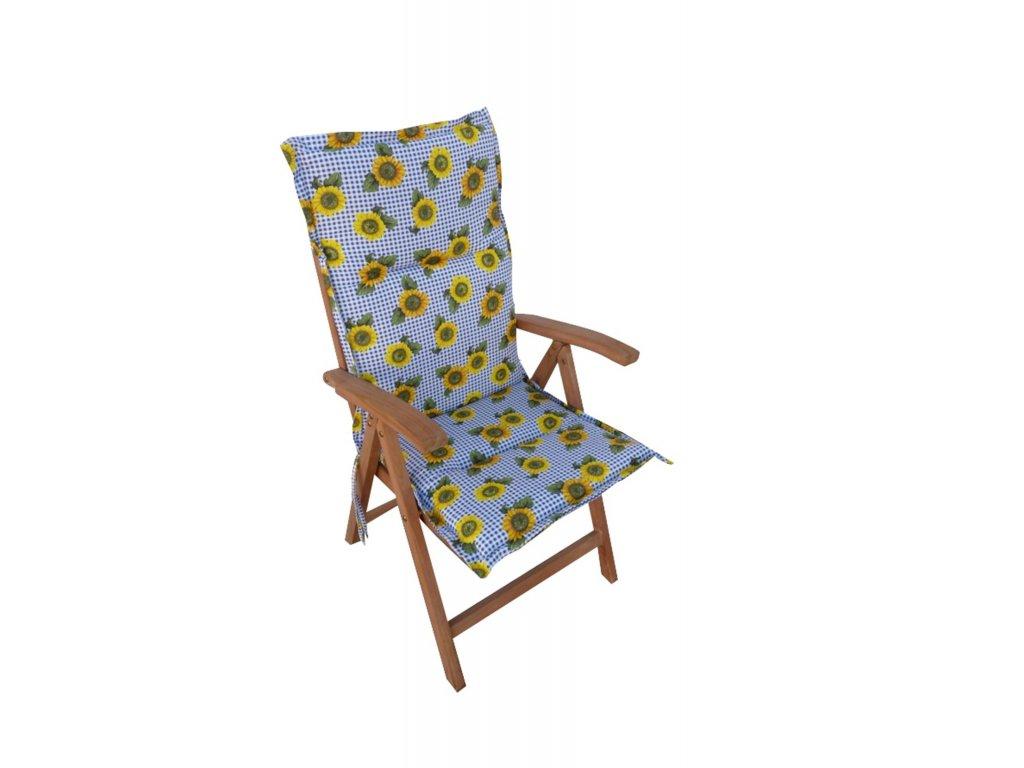 Polstr Slunečnice na polohovací židli