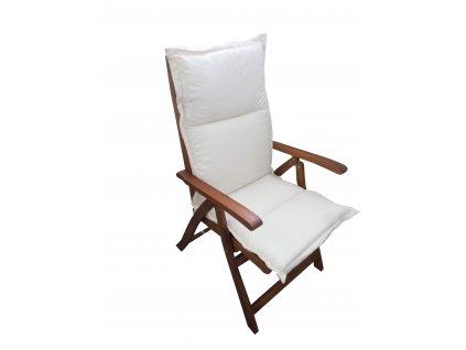 Polstr na zahradní židli bílý