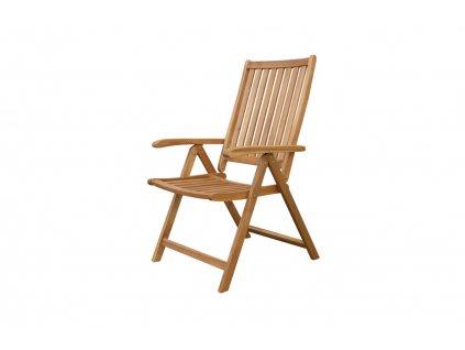 Akční set 4x Brazil eukalyptová polohovací židle