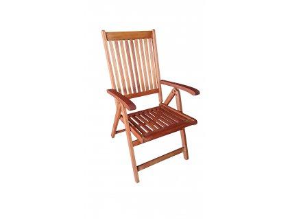 Dřevěná polohovací židle Burgis