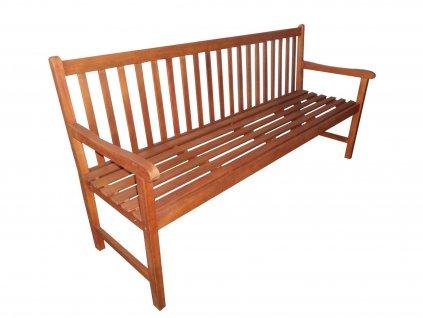 Viet dřevěná zahradní lavice eukalyptus 180 cm