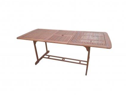 RICO hranatý eukalyptový rozkládací stůl
