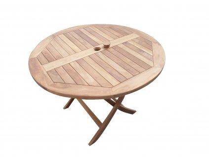 Rafa kulatý teakový skládací stůl