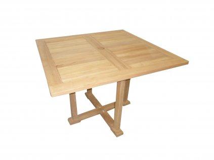 Sven hranatý teakový stůl