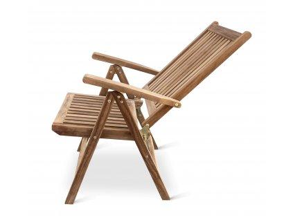 Edy teaková polohovací židle
