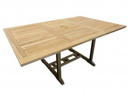Palu hranatý zahradní rozkládací stůl teak