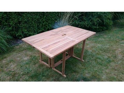 Butterfly/Beverly hranatý teakový skládací stůl