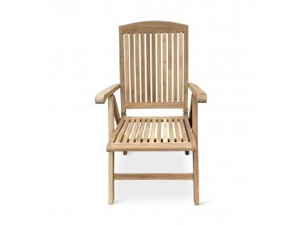 America I. polohovací dřevěná židle teak