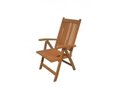 Polohovací dřevěná židle Brazil 2. jakost