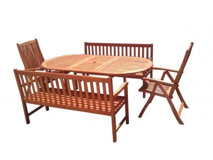 Viet eukalyptový set nábytku na zahradu 1+2+2