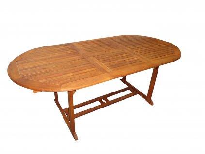 Viet oválný/hranatý dřevěný rozkládací stůl eukalyptus