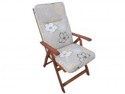 Polstr na polohovací židli 8 cm šedý