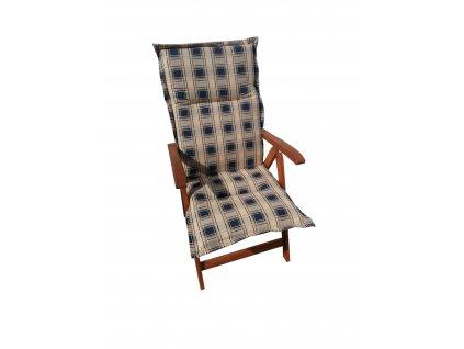 Polstr Modrá mřížka na polohovací židli