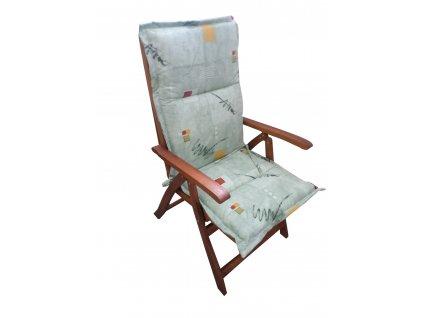 Polstr Žíhaně zelený na polohovací židli