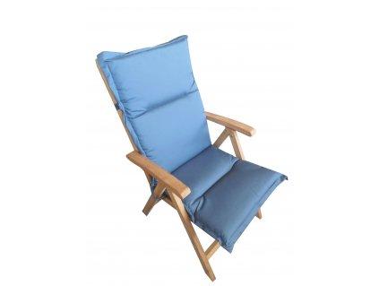 Polstr Tmavě modré barvy na polohovací židli