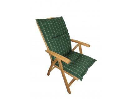 Polstr Zelený na polohovací židli