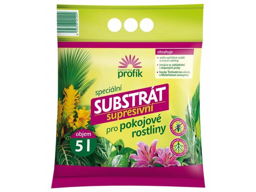 Supresivní substrát pro pokojové rostliny 5 l, FO