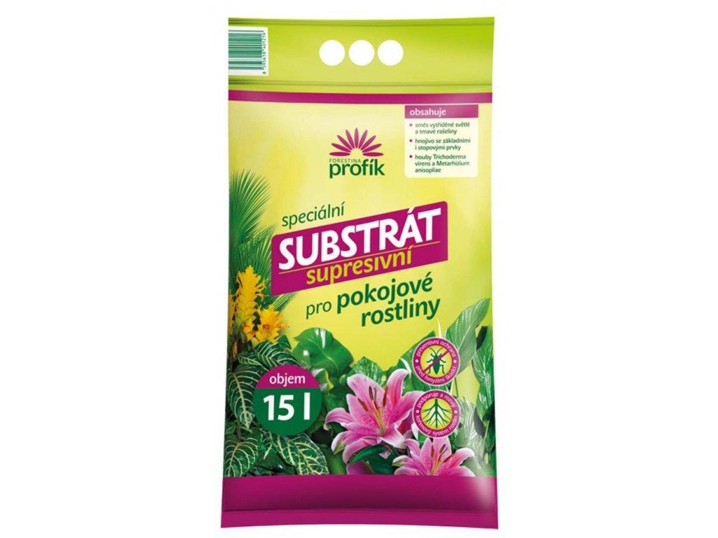 Supresivní substrát pro pokojové rostliny 15 l, FO