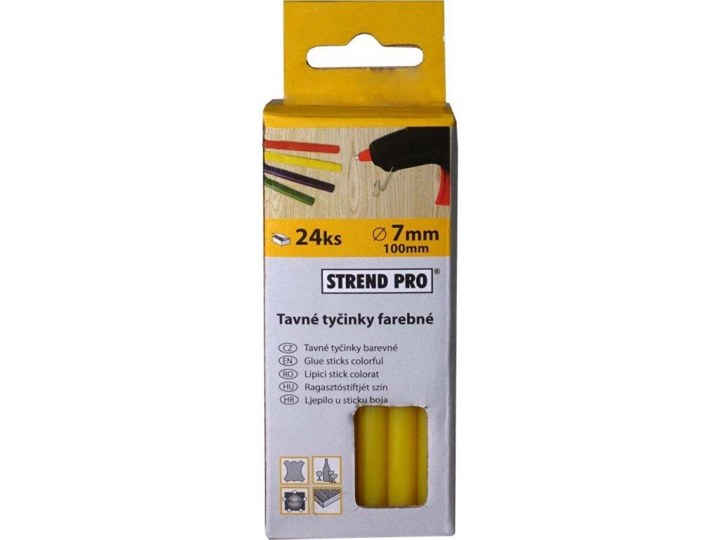 Tavné náplně 7 mm x 10 cm, 24 ks - žlutá
