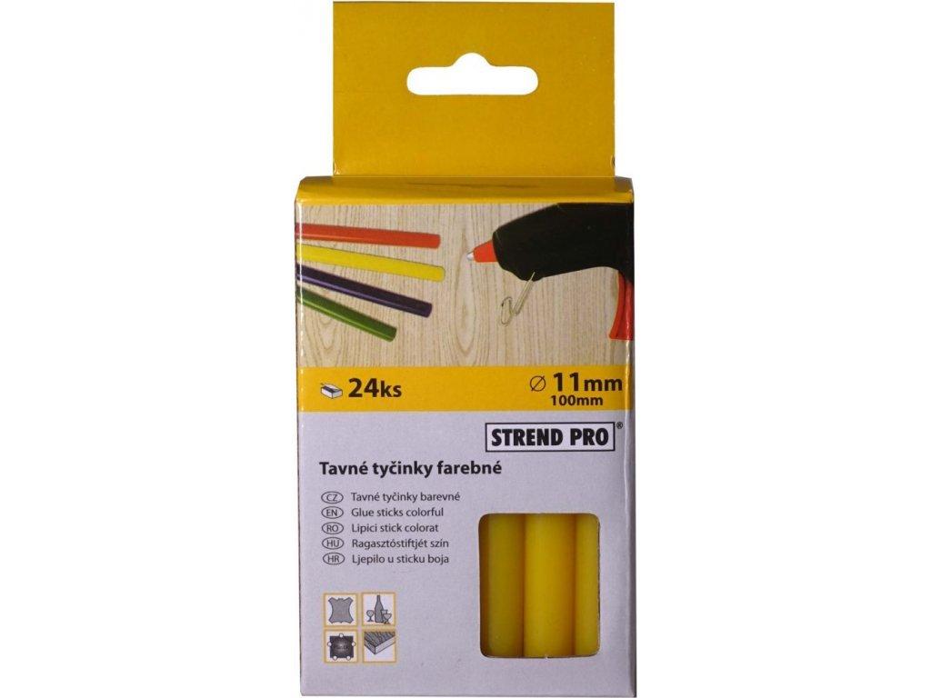 Tavné náplně 11 mm x 10 cm, 24 ks - žlutá