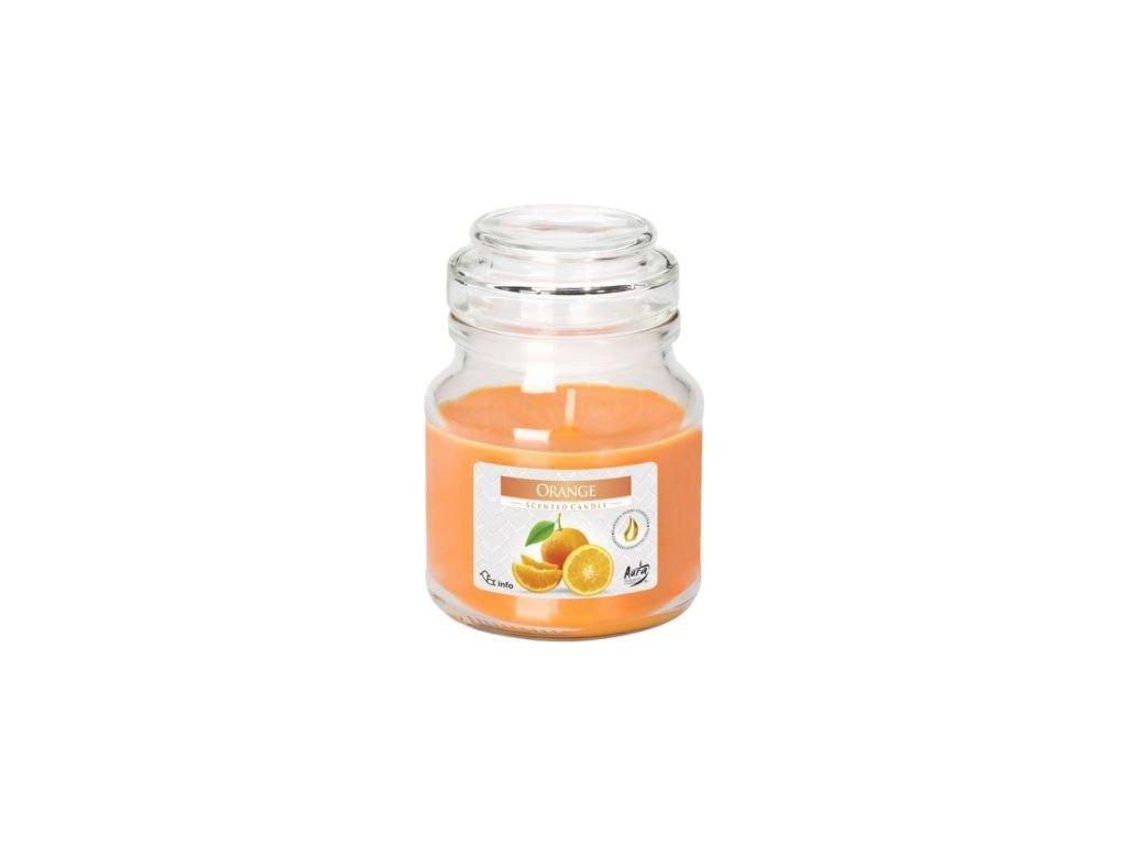 Svíčka vonná - sklo s pokl. 120 g, pomeranč