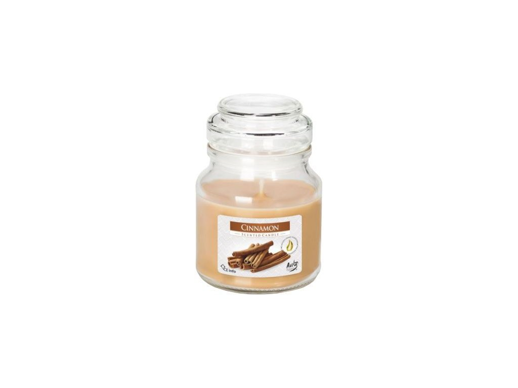 Svíčka vonná - sklo s pokl. 120 g, skořice