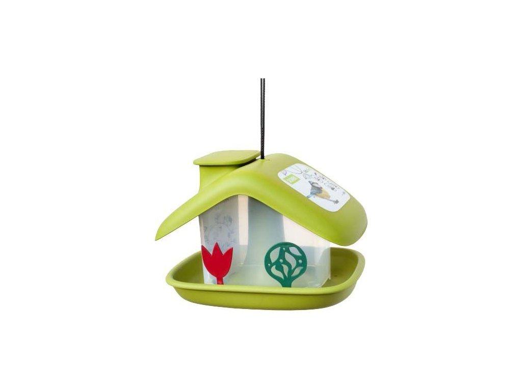 Krmítko Domek - zelená