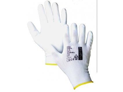Rukavice BUCK, BA285681- 8, bílé úpletové , vel. 8