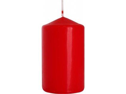 Svíčka válec 6 x 10 cm, červená