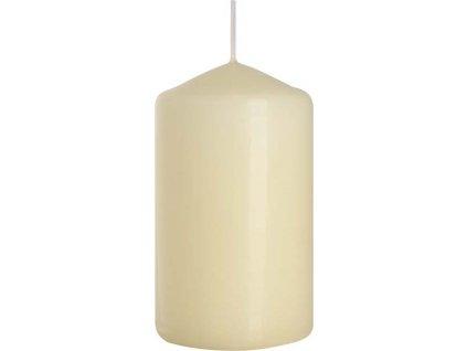 Svíčka válec 6 x 10 cm, sl. kost