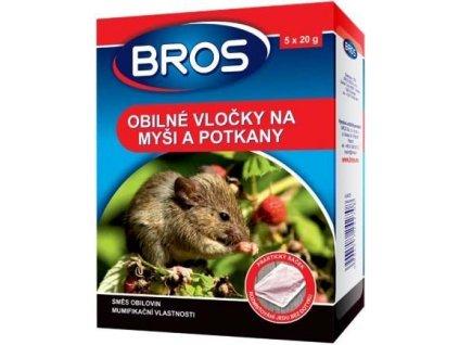 BROS - obilné vločky na myši a pot. 5 x 20 g