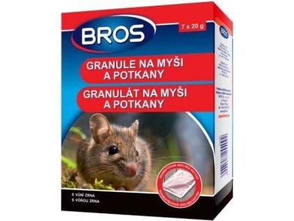 BROS - granule na myši a pot. 7 x 20 g
