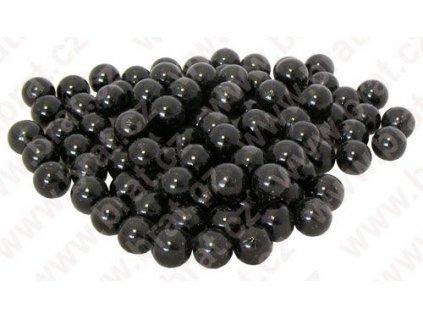 Dekorativní kuličky sklo 70 g, černá