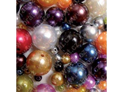 Oasis perly navl. - d 8 mm, 144 ks, černá