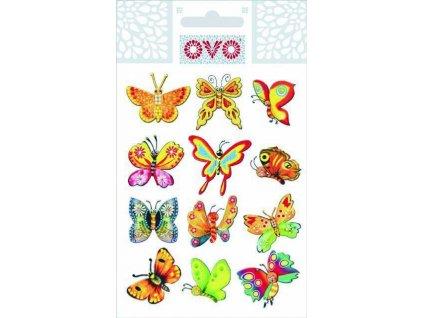 OVO Obtisky glitr motýlci 1 ks