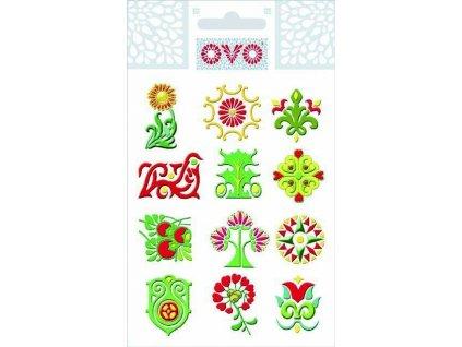 OVO Obtisky glitr ornamenty 1 ks