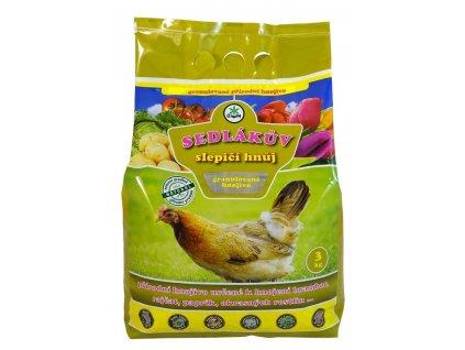 Sedlákův slepičí hnůj 3 kg