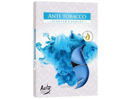Svíčka čajová vonná 6 ks - anti tabák