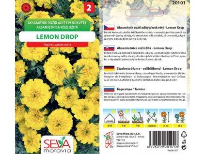 Aksamitník rozkl. Lemon Drop citronově žlutý_0,7 g