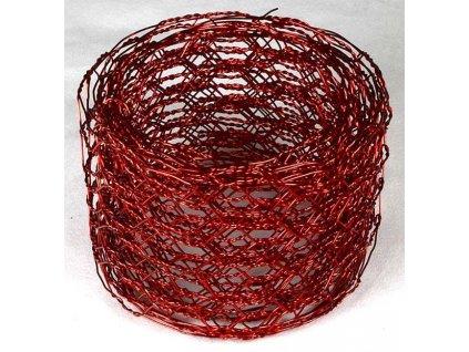 Vázací síťka hexanet - 5 cm, 2,5 m, červená